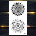 Začasni Tattoo geometrični slog vrtnice