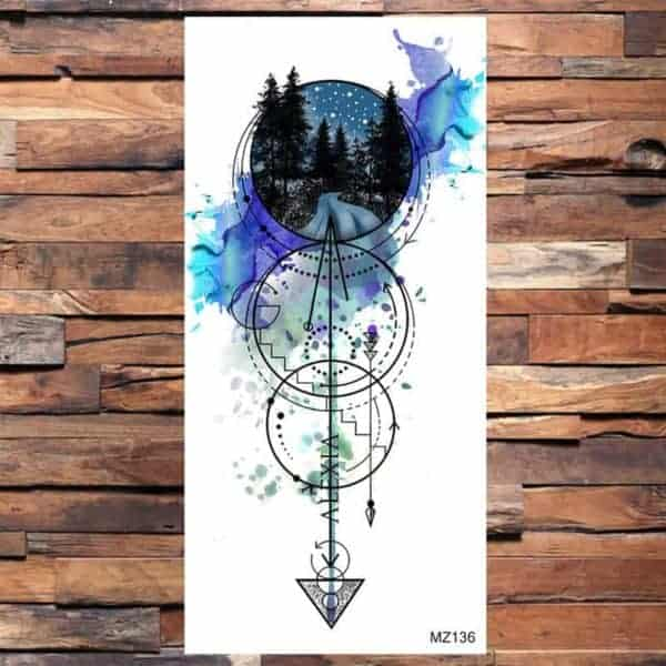 Začasni barvni tattoo magična pot