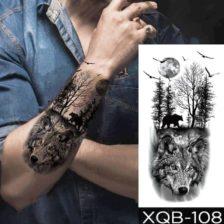 Začasni tattoo gozdni predatorji