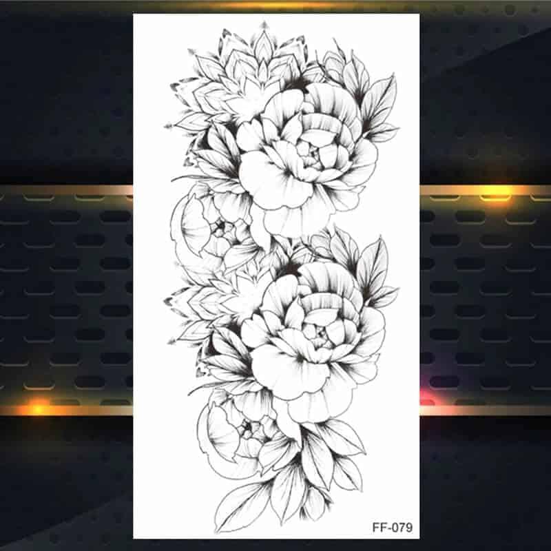 Začasni tattoo mogočne vrtnice