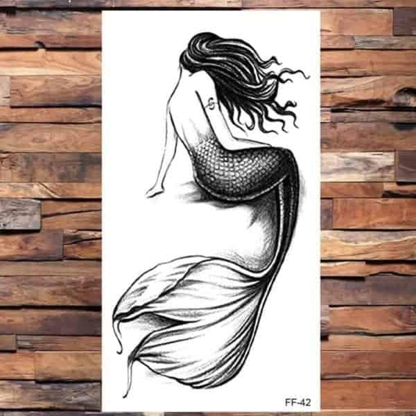 Začasni tattoo morska deklica