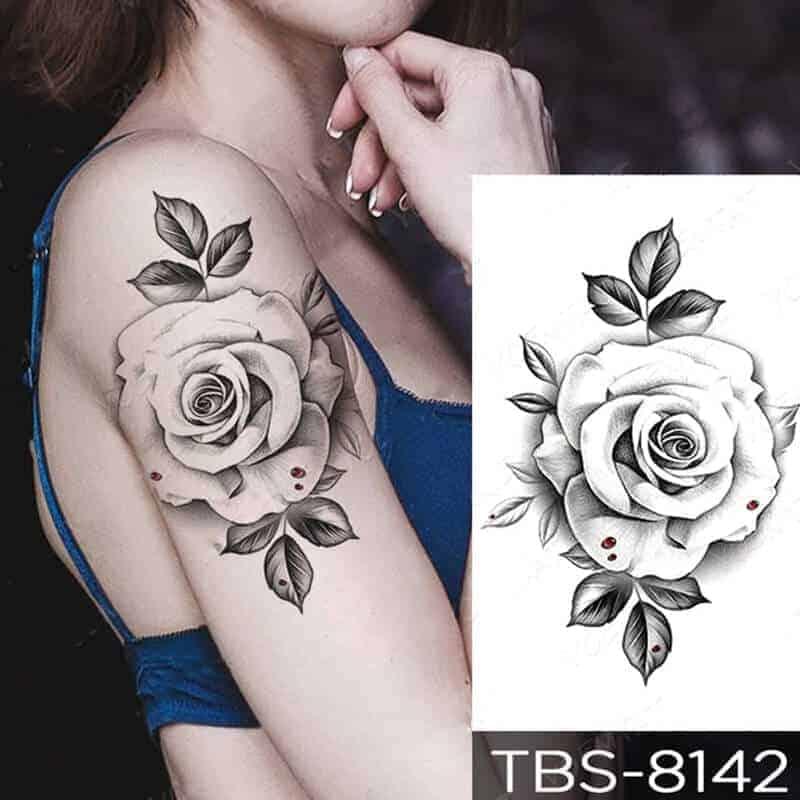 Začasni tattoo nalepka za roko vrtnica