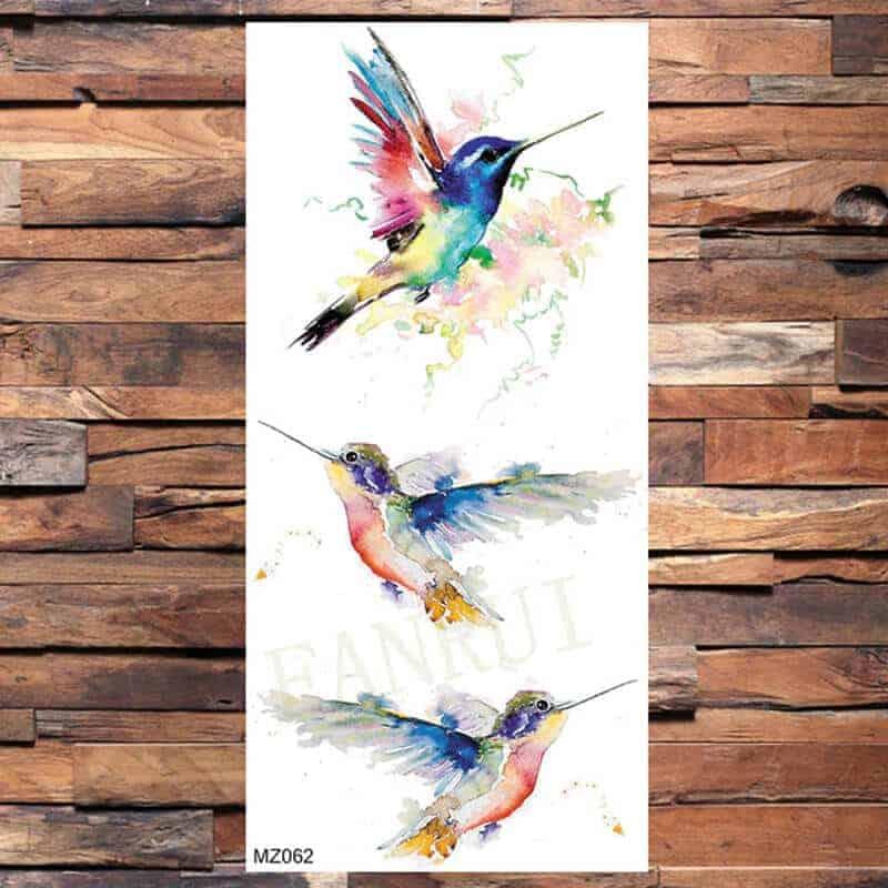 Začasni tattoo ptice barvni