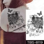 Začasni tattoo tiger vrtnica in metulj