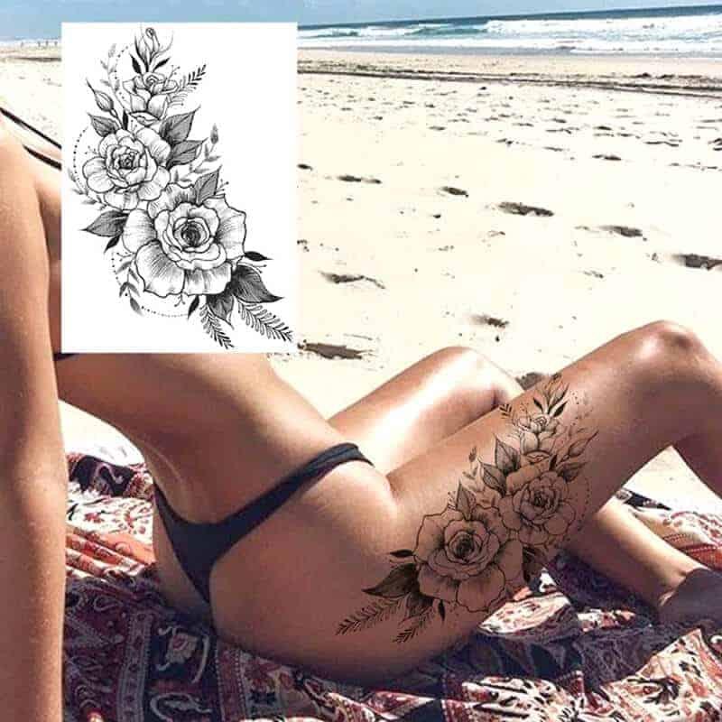 Začasni tattoo vroča vrtnica