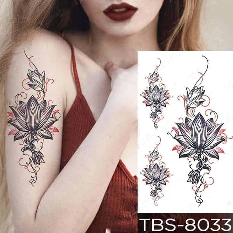 Začasni tattoo za roko cvetovi