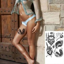 Začasni tattooji hudič kača srce