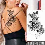 Začasni tatuji cvetovi vrtnic