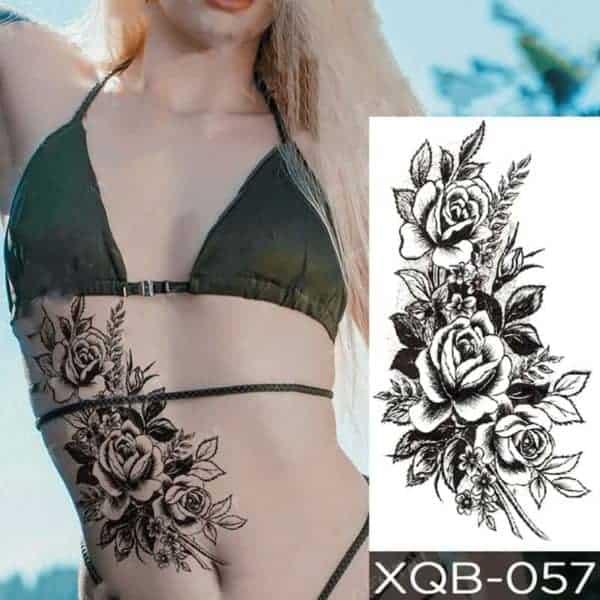 Ženski začasni tatuji vrtnica