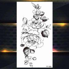 cvetovi vrtnice tattoo začasni