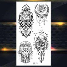 set 4 začasnih tattoojev