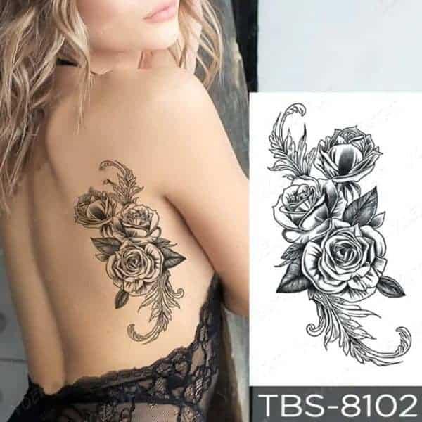tattoo vrtnice za ženske