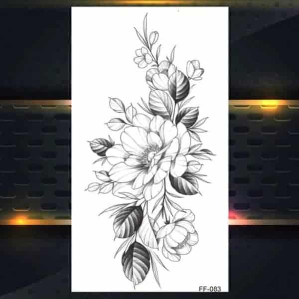 tattoo za ženske vrtnica začasni
