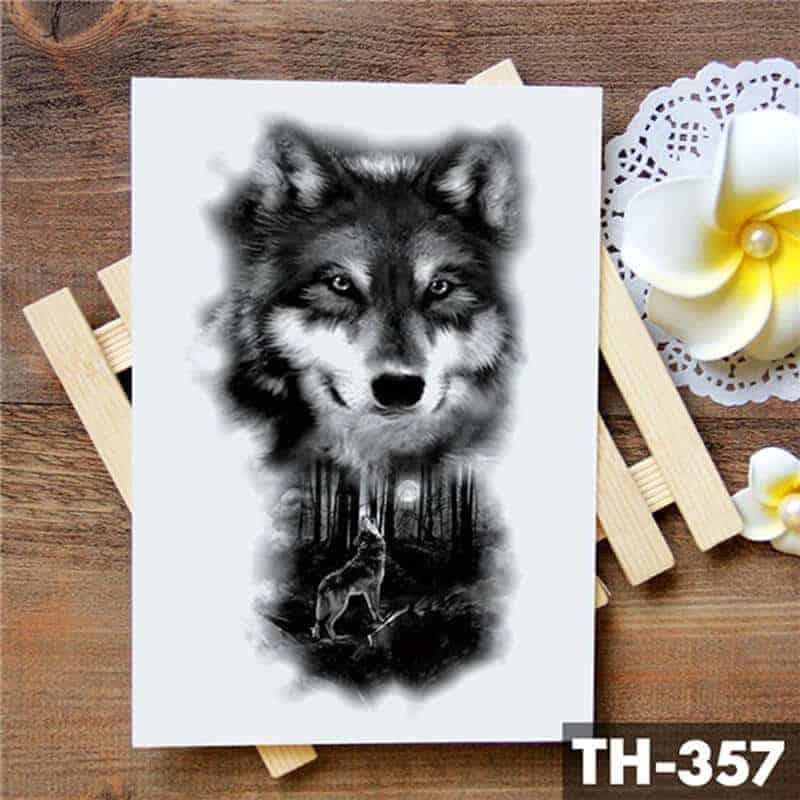 začasna tattoo nalepka volk