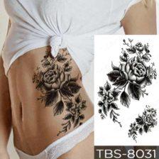 začasni tattoo črna vrtnica