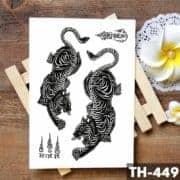 začasni tattoo črni tiger