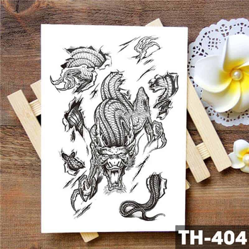 začasni tattoo kitajski zmaj