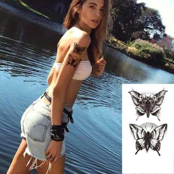začasni tattoo metulja