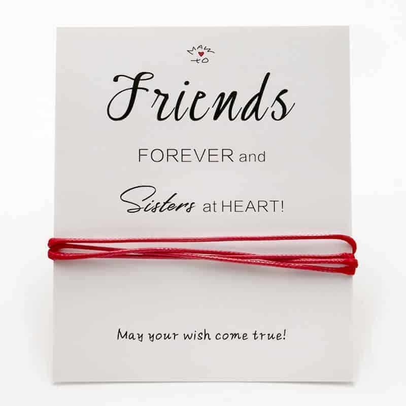 zapestnica prijateljstva friends forever and sisters at heart