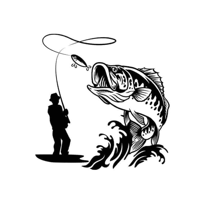 Nalepka ribič