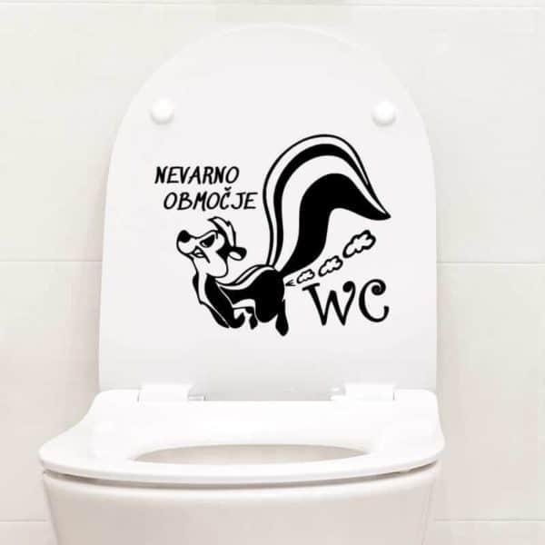 Nalepka za wc nevarno območje dihur