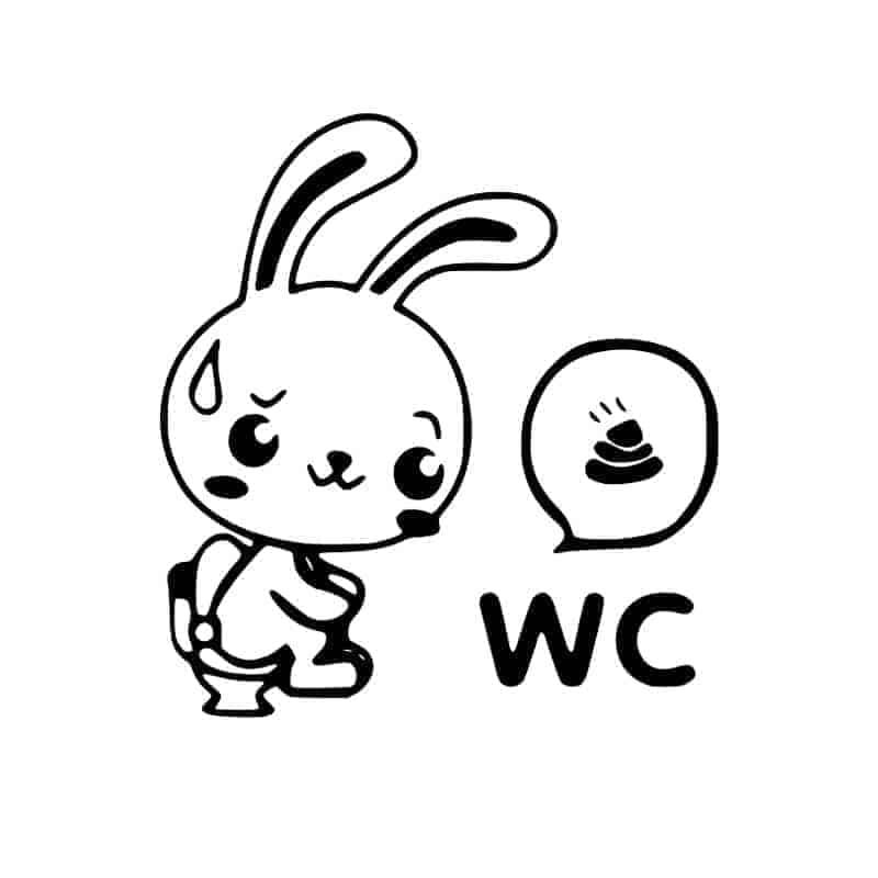 Nalepka za wc pokrov zajček
