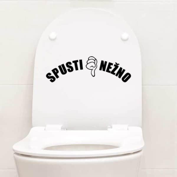 Nalepka za wc spusti me nežno