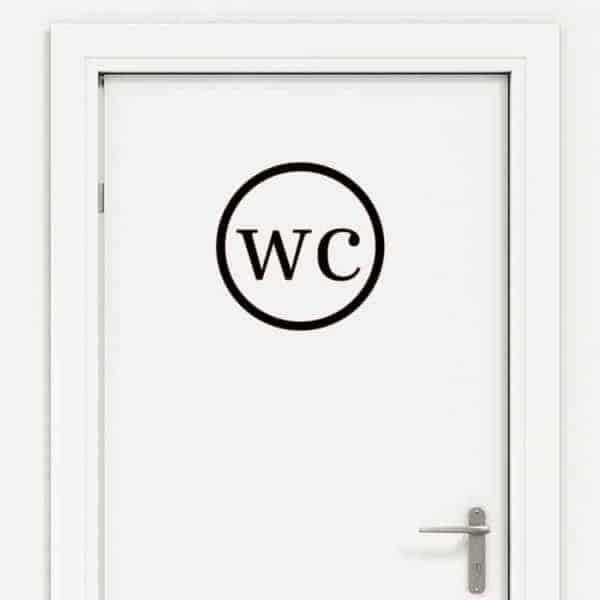 Napis wc za vrata