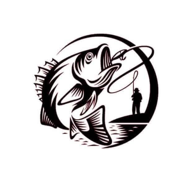 Ribič nalepka za avto