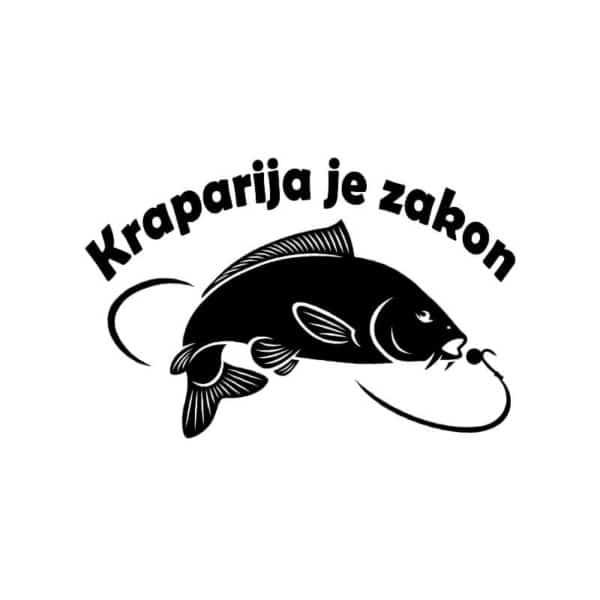 Ribiška nalepka za avto kraparija je zakon