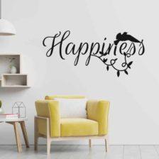 Stenska nalepka Happiness