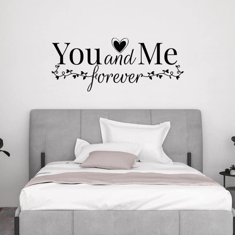 Stenska nalepka You and Me Forever