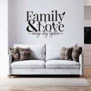 Stenska nalepka family and love stay together