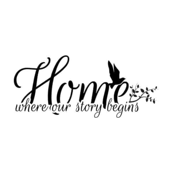 Stenska nalepka home our story