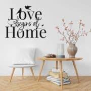 Stenska nalepka love begins at home