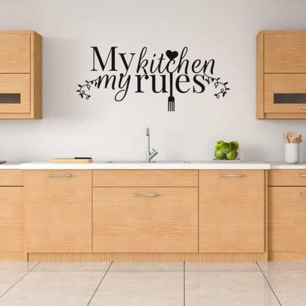 Stenska nalepka napis My Kitchen My Rules