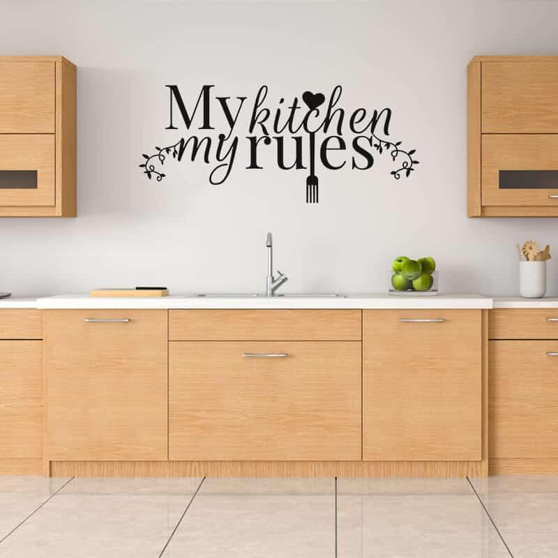 Stenska nalepka napis My Kitchen My Rules