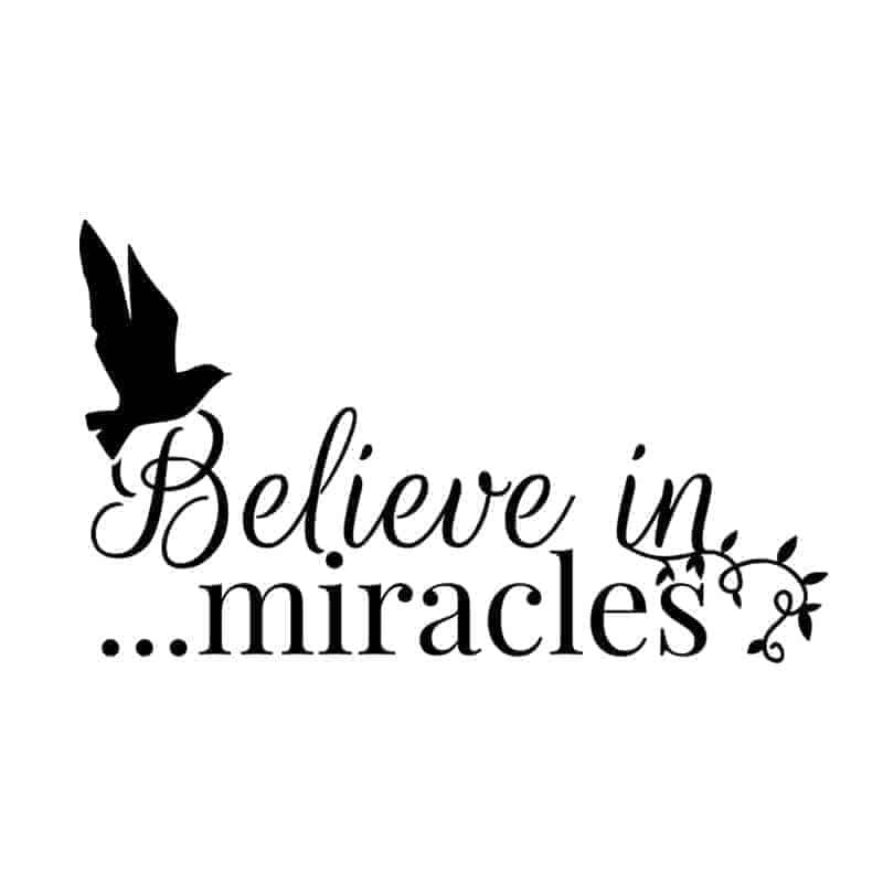 Stenska nalepka verjemite v čudeže