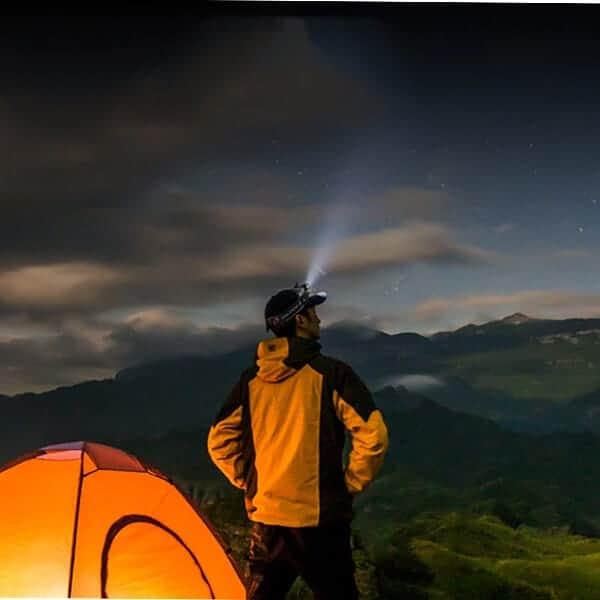 Naglavna led svetilka kampiranje