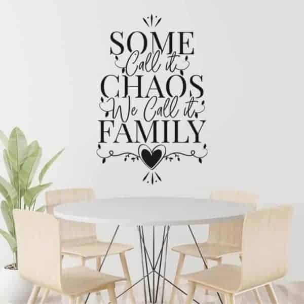 dekorativna nalepka we call it family