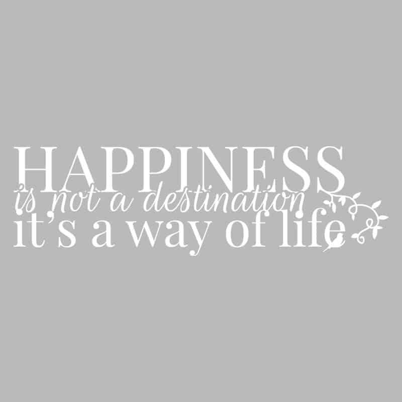 dekorativna stenska nalepka happiness