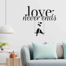 dekorativna stenska nalepka love never ends
