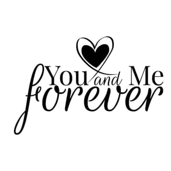 dekorativna stenska nalepka you and me forever