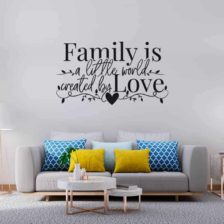 family stenska nalepka črna