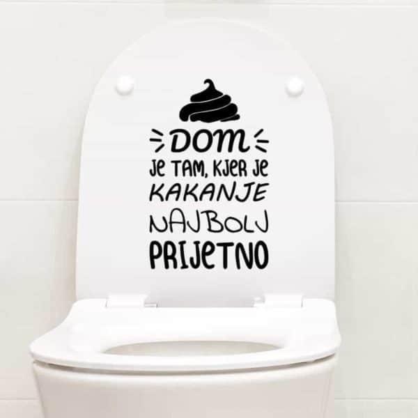 nalepka ta wc pokrov napis dom
