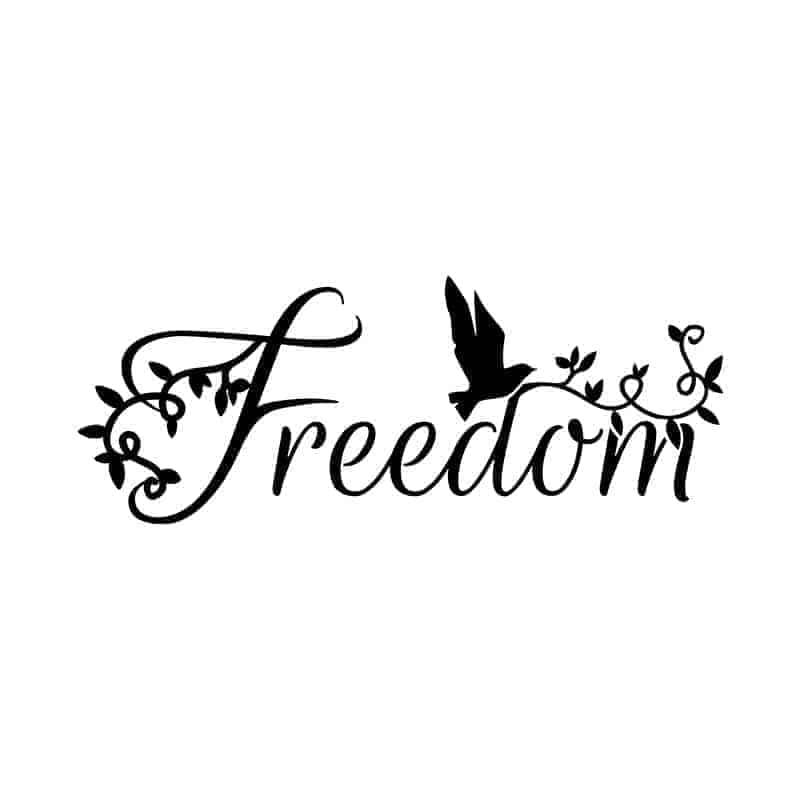 nalepka za na steno freedom