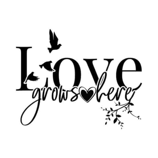 nalepka za steno love grows here