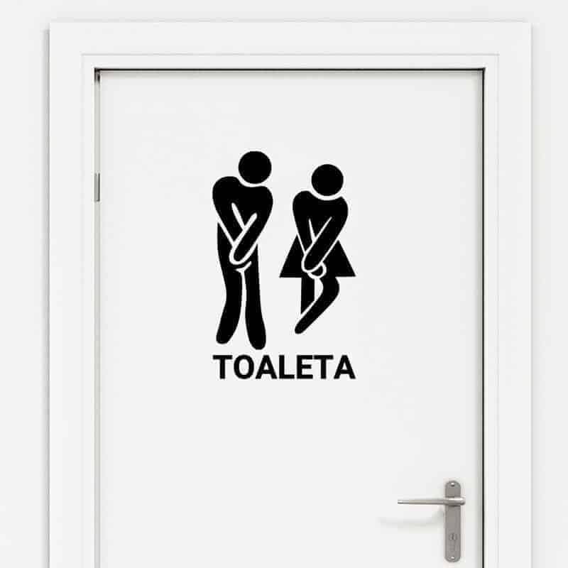 nalepka za vrata wc toaleta