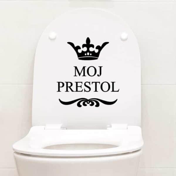 nalepka za wc pokrov moj prestol