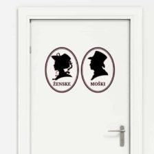 nalepka za wc vrata ženske in moški